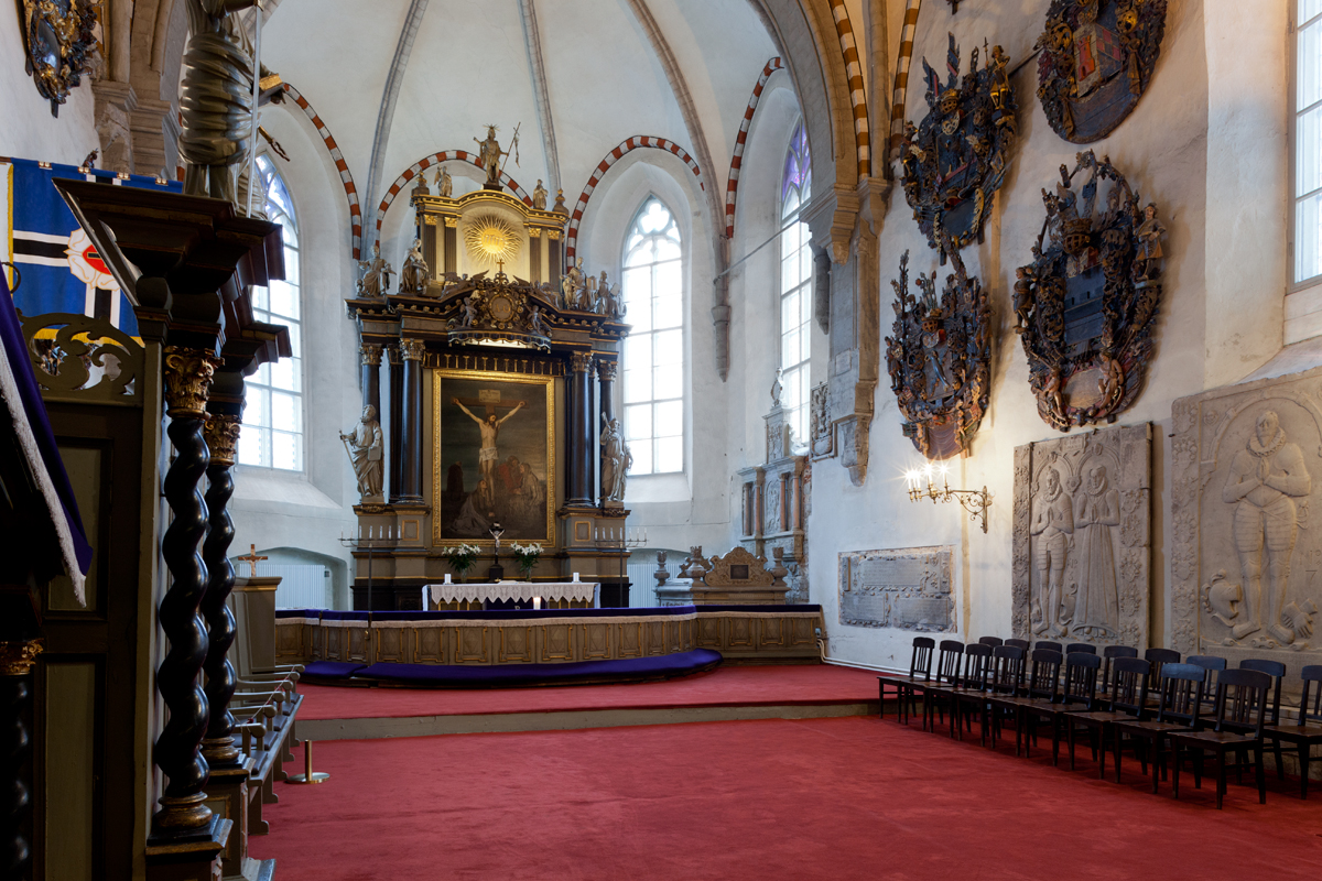 Interior view of the Cathedral of Saint Mary the Virgin (Dome Church) in Tallinn, Estonia