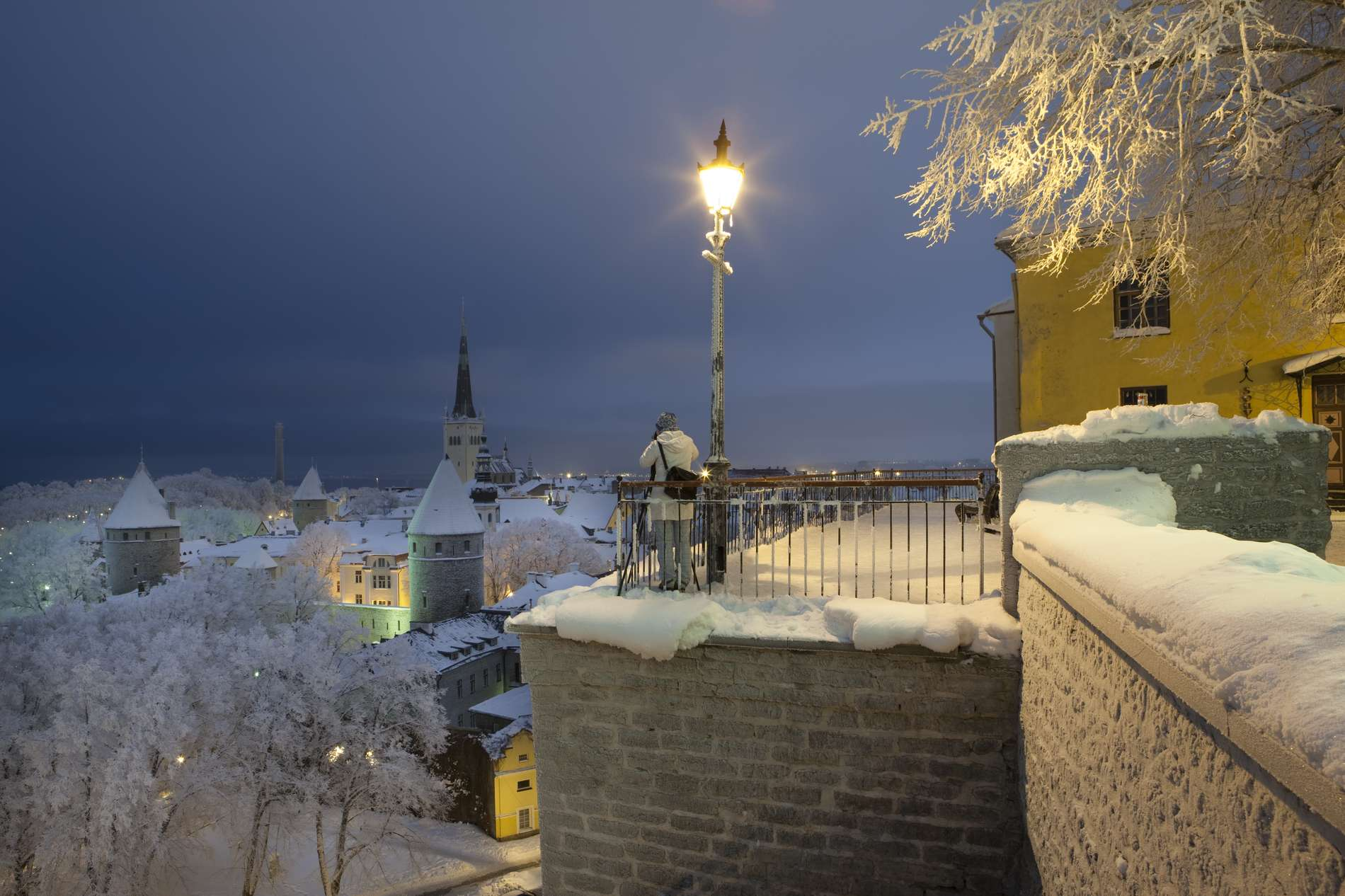 Wintry view on Tallinn Old Town